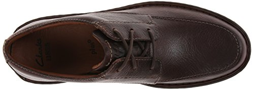 Clarks Stratton Tempo Oxford, Brown Leather, 9 2E US | 8 UK | 42 EU