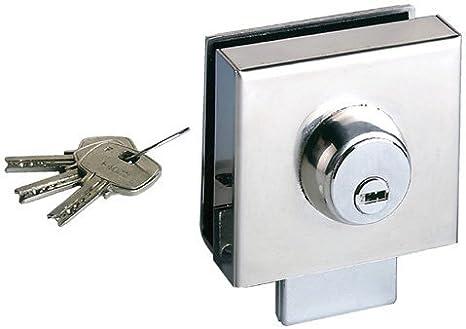 Sag Seguridad. S.L. - Cerradura puerta cristal sag vr 10 mm: Amazon.es: Bricolaje y herramientas