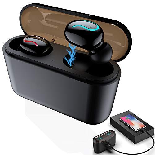 aloutte bluetooth 5.0 TWS Wireless Earbuds,True Wireless in-Ear Headphone,Wireless Sport Earbud Bluetooth Headset, Ipx5 Waterproof Sweatproof Bluetooth Earphone,Build-in Mic with 2600mah Charging Case