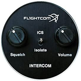 Flightcom 403 Panel Mount Intercom – 6-Place Stereo – Voice-Activated