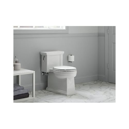 KOHLER K-3981-96 Tresham Comfort Height Skirted One-Piece Compact Elongated Toilet with Aquapiston Flush Technology and Left-Hand Trip Lever, Biscuit by Kohler (Image #6)
