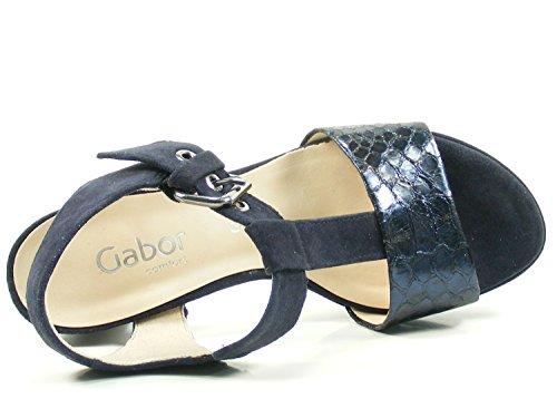 Women's Fashion Sandals Strap Blue Black Ankle Comfort Gabor CdRFwxAWqq