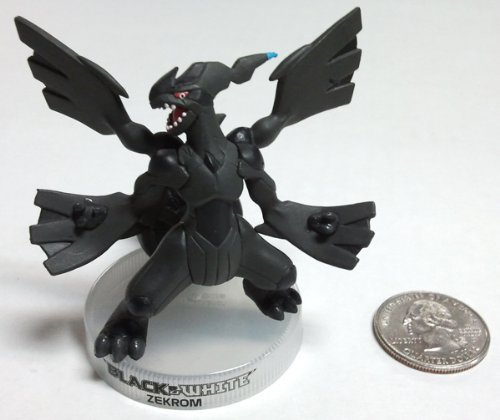 (Pokemon Zekrom Black & White 3 Inch Mini PVC Figure Rare - Legendary Collection)