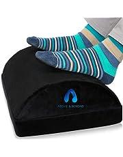 Foot Rest for Under Desk – Adjustable Memory Foam Foot Rest for Office Chair & Gaming Chair – Ergonomic Design for Back & Hip Pain Relief - Non Slip Bottom (Black)