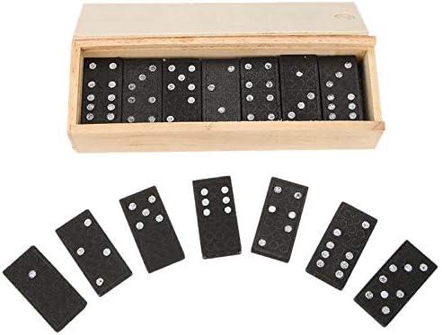 TOOGOO 28Pcs/Set Domino De Madera Juegos De Mesa Juguetes De Dominó Viajes Juego De Mesa Divertido Ni?os Infantiles Juguetes Educativos para Ni?os Regalos: Amazon.es: Juguetes y juegos