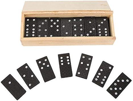 TOOGOO 28Pcs/Set Domino De Madera Juegos De Mesa Juguetes ...