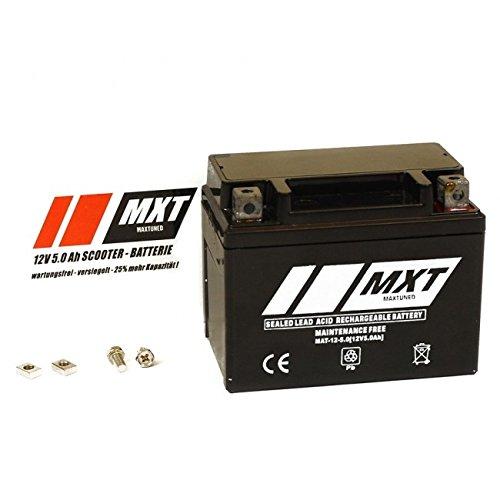 Maxtuned Sla4l Bs Rollerbatterie 12v 5ah Vorgeladen Versiegelt