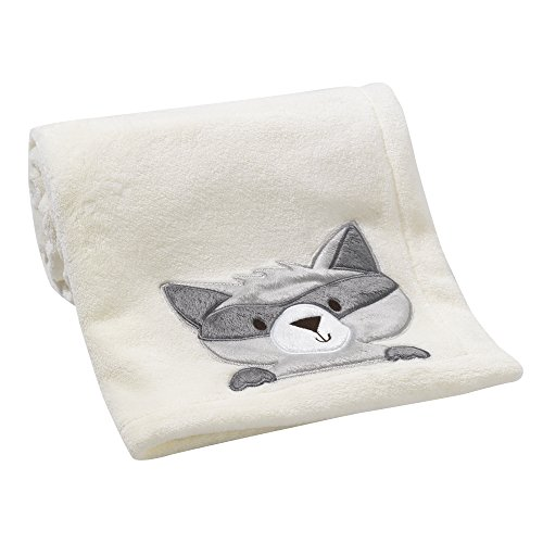 Bedtime Originals Friendly Forest Raccoon Blanket, Cream/Gray