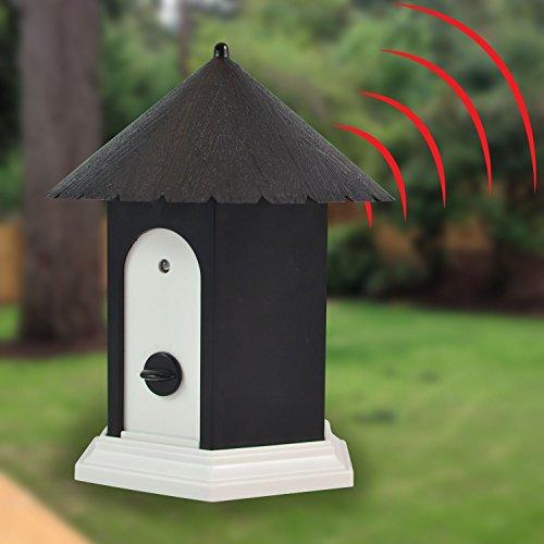 Ultrasonic Outdoor Dog Bark Control Device | Stop dog barking no bark| Birdhouse shape (Dog White Birdhouse)