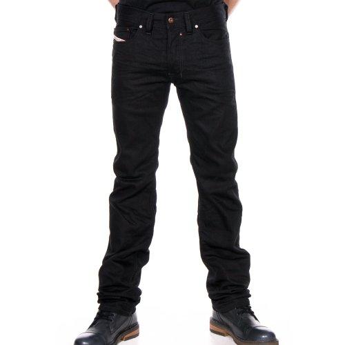 Diesel Black Jeans - Diesel Black Straight Leg Jeans (40)