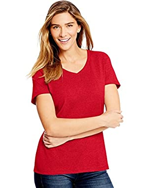 Hanes Women`s X-Temp Fresh IQ Tri-Blend Performance V-Neck Tee