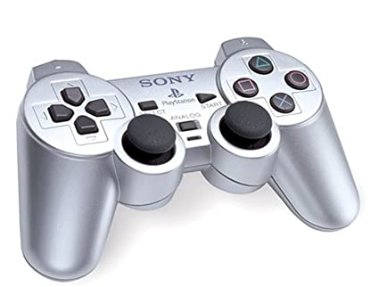 Official Sony Satin Silver DualShock 2 Controller (PS2