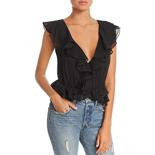 Bardot Emily Frill Bodysuit Black SM