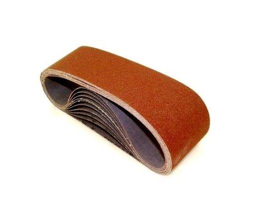 SAIT 61056 Closed Coat Aluminum Oxide 6-Inch x 132-Inch 1AX 100 Grit Sanding Belt, 10-Pack