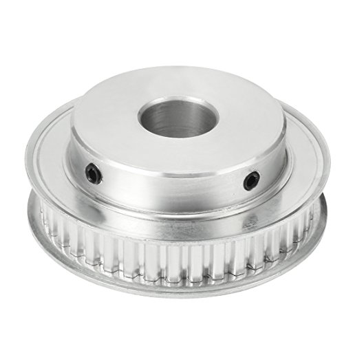 uxcell Aluminum XL 40 Teeth 14mm Bore Timing Belt Idler Pulley Flange Synchronous Wheel for 10mm Belt CNC ()