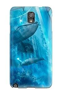 Josie Blaser's Shop Hot High-quality Durability Case For Galaxy Note 3(aqua City)