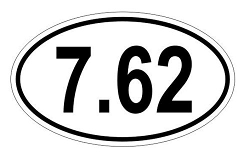"""1 Pc Impassioned Unique 7.62 Oval 2nd Amendment Window Stickers Laptop Luggage Hoverboard Home Wall Funny Security Sign Vinyl Art Sticker Graphics Decor Size 3""""x5"""" Color White Black"""