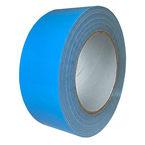 Exa Duct Tape 1.88 Inches x 60 Yards, Duct Tape for Crafts, Extra Strength, No Residue, DIY, Repairs, Indoor Outdoor Use, Book Repair, Must Have Garage Tool (1.88 X 60 Yards, Light Blue)