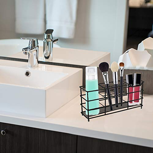 HAKACC Stainless Steel Toothbrush Holder,Toothbrush Holder for Bathroom Multi-Functional 8 Slots Toothbrush Holder Toothpaste Storage Toothbrush Organizer