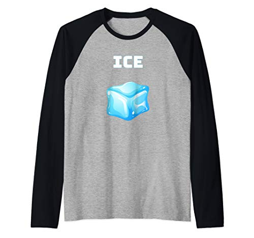 Fire and Ice Matching Couple Halloween Group Costume Shirts Raglan Baseball Tee]()