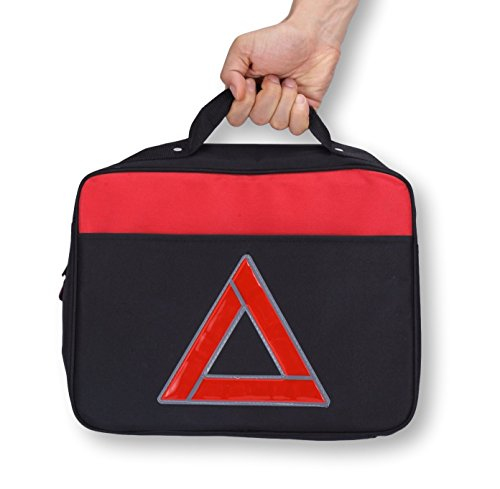 Thrive Roadside Assistance Auto Emergency Kit First Aid Kit  Square Bag Contains Jumper Cables Tools Reflective Safety Triangle And More Ideal Winter Accessory For Your Car Truck Camper