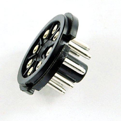 (Cary 4pc 8pin Bakelite Tube Socket Plug Base Testing Octal for El34 6sn7 Kt88 6l6 Amp)