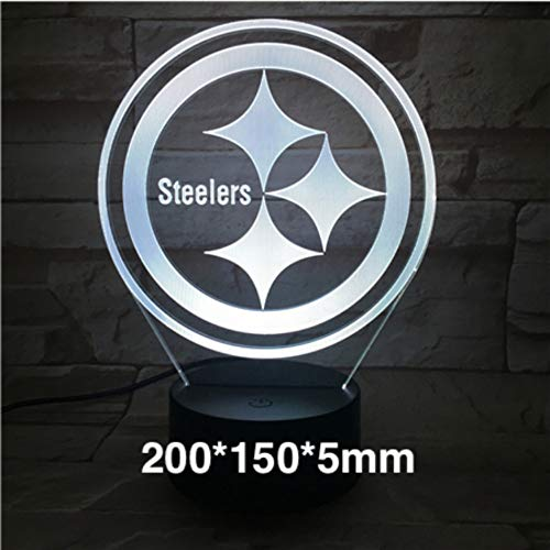 eelers American Football Helmet USB 3D Led Night Light 7 Color Changing Touch ()