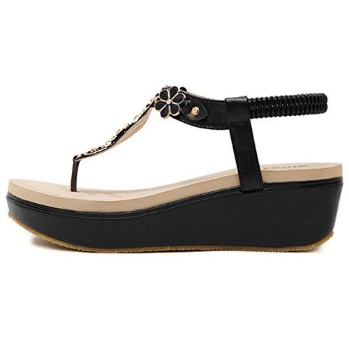 Chaussures à élastique Helle Comfort noires Casual femme fc4Hti