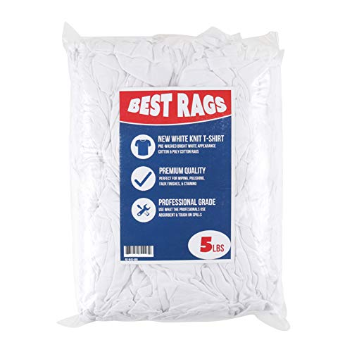 Arkwright White Knit Cleaning T-Shirt Rags (5 lbs. in a Bag)
