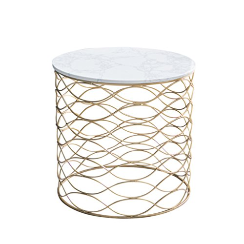 - KTYXDE Nordic Marble Sofa Side Table A Few Corners of The Living Room Balcony Small Coffee Table Creative Round Table Style Light Luxury Folding Table (Color : White)