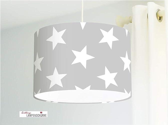 Lampe große Sterne fürs Kinderzimmer Babylampe Baby in Grau ...