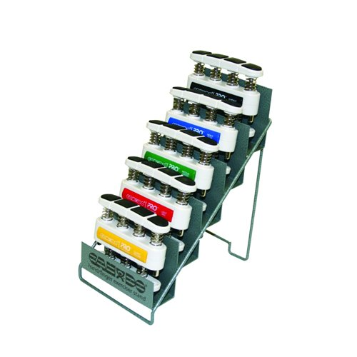 CanDo Pro Hand Exerciser, Set Of 5 with Metal Stand
