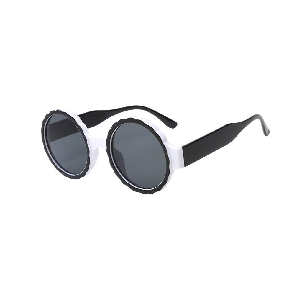 Thepass Vintage Sunglasses,Womens Fashion Round Frame Sunglasses Gas Glasses