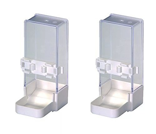 Moondown Farm Pack of 2 x 200cc Cage Aviary Feeder/Drinker for Cockatiels,...