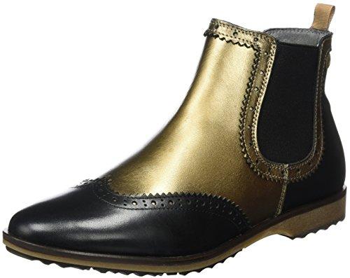 Black Chelsea Flat Damen Mehrfarbig Boots nobrand Bronze 7EqXwTX8