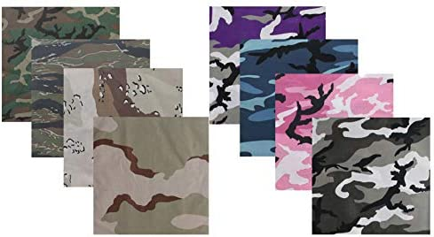 27 x 27 Solid Head Scarf Do-rag 100/% Cotton Bandanna Cover ARMYU Black Solid Color Jumbo 100/% Cotton Military Bandana