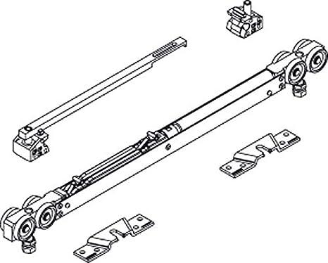 Geze - Juego de accesorios de amortiguación (versión corta, ancho de las alas (mm): 575-900, tipo: amortiguación de 1 cara)
