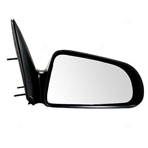 Passengers Manual Side View Mirror 5x7 Textured Replacement for Dodge Mitsubishi Pickup Truck 55077620AD