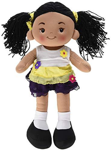 Linzy Toys Aissa Handmade Fabric Rag Doll with Yellow Dress 16 Inch