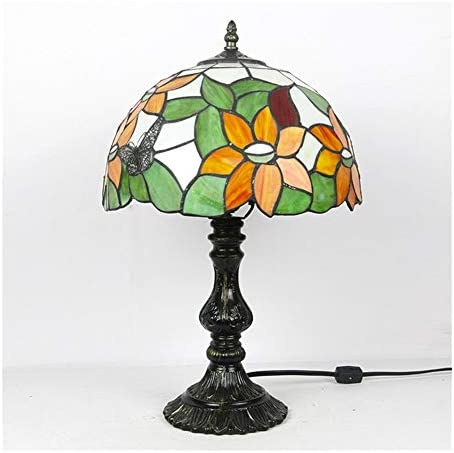 Lishaodonglishaodon Butterfly 12-inch European-style Tiffany Lamp To Read Eye Lamp Bedroom Bedside Table Lamp Surviving Room Study