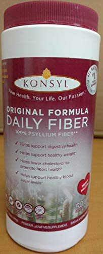 Konsyl Natural Fiber Supplement Laxative Original Sugar Free 300 g (Pack of 2) ()