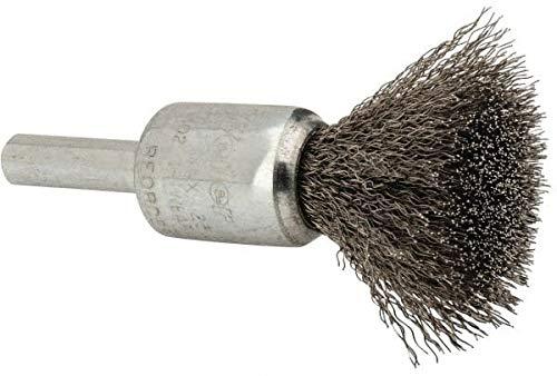 Steel Shank 1//4 Shank Diam Weiler 1//2 Diam Crimped Wire End Brush 25,000 Max RPM