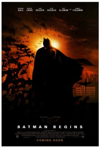 Batman Begins POSTER Movie (27 x 40 Inches - 69cm x 102cm) (2005) (Style B) (Movies That Begin With B)
