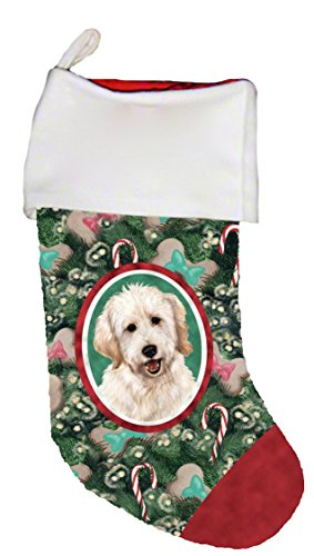Best of Breed Goldendoodle White Dog Breed Christmas Stocking