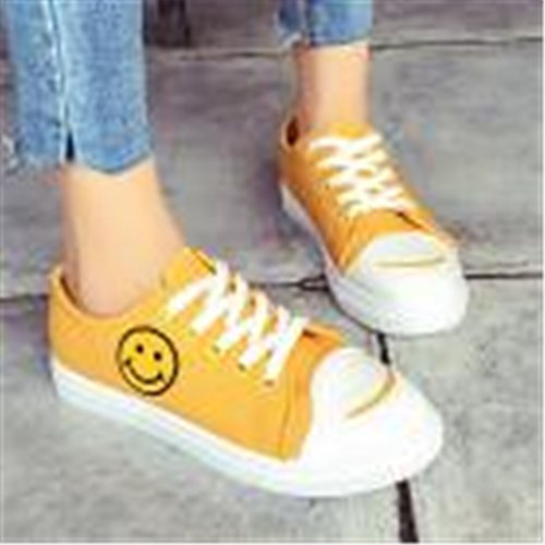 Women Shoes Running Yellow Woman Shoes Shoes Casual Bellelove Color Canvas Shoes Shoes Heel Shoes Straps Gym Flat Sport Fresh Solid Leisure Summer Cross BtFnfqTI