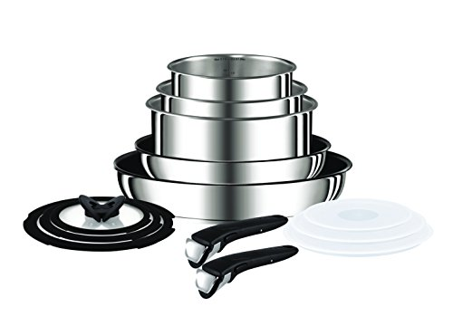 Tefal (T-Fal) Ingenio Pan Set, Stainless Steel, 13-Piece