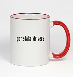 got stake-driver? - 11oz Red Handle Coffee Mug