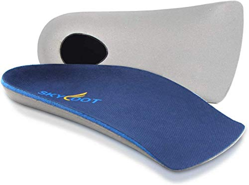Skyfoot's 3/4 Orthotics Shoe Insoles - Arch Support Correct Over-Pronation, Fallen Arches, Flat Feet Metatarsal Support Insoles (L - W11-12.5 | M9.5-11)