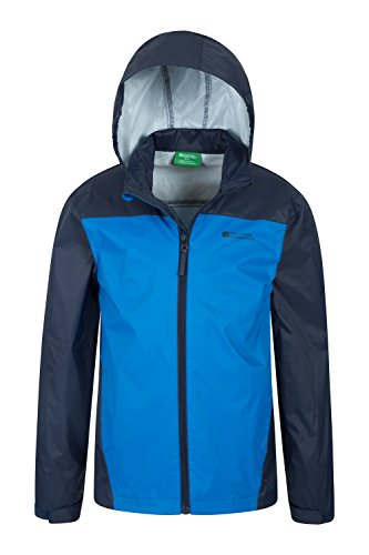 Tidal Camping Childrens Hook Cuffs Blue Jacket Coat Adjustable Mountain Ripstop Summer amp; Kids Warehouse Resistant Jacket Coat for amp; Hood Trench Loop for Water Travelling 5WUngxW
