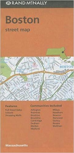 Rand McNally Folded Map Boston Street Map Rand McNally